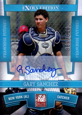 2010 Elite Extra Edition Gary Sanchez Autograph