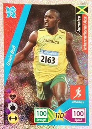 2012 Panini Adrenalyn XL Usain Bolt
