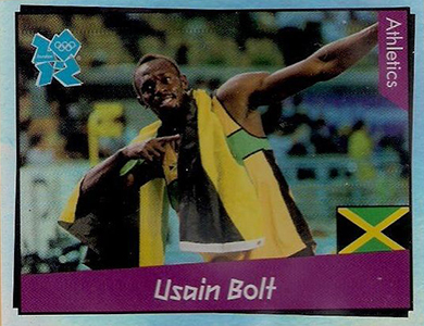 2012 Panini London 2012 Stickers Usain Bolt 65