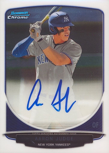 2013 Bowman Chrome Draft Aaron Judge Autograph