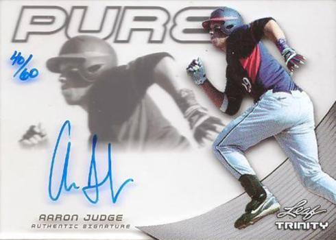 2013 Leaf Trinity Pure Glass Autograph Aaron Judge