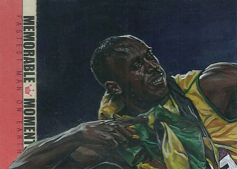 2013 Sportkings Memorable Moments Usain Bolt Painting