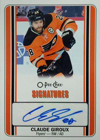 2016-17 O-Pee-Chee Hockey Signatures Claude Giroux