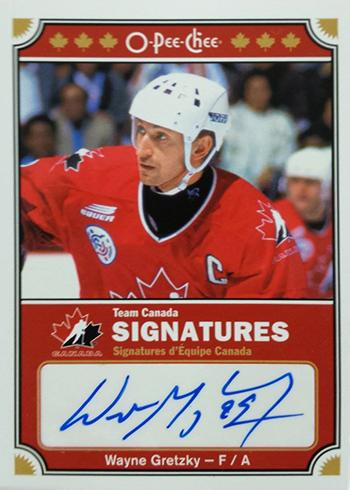 2016-17 O-Pee-Chee Hockey Team Canada Sigantures Wayne Gretzky