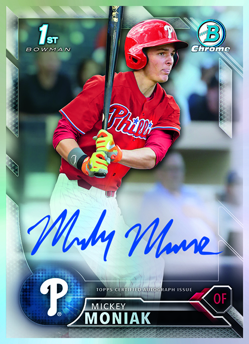 2016 Bowman Draft Mickey Moniak Autograph