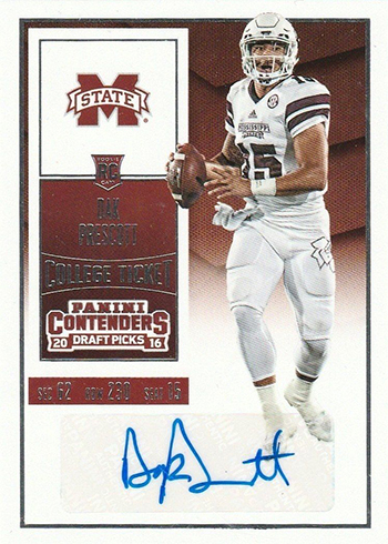 2016 Contenders Draft Picks Dak Prescott RC