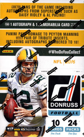 2016 Donruss Football Hobby Box