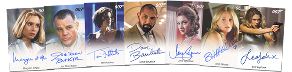 2016 James Bond Archives SPECTRE Edition Autographs lot
