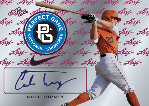 2016 Leaf Perfect Game Baseball Metal Cole Turney Autograph