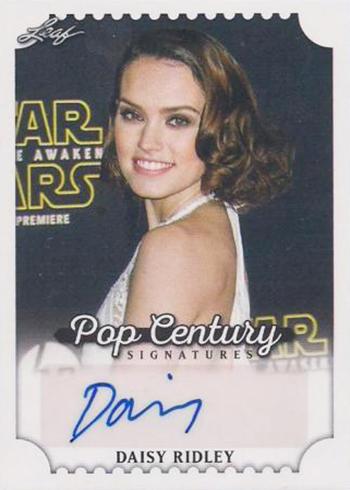 2016 Leaf Pop Century Base Autographs Daisy Ridley