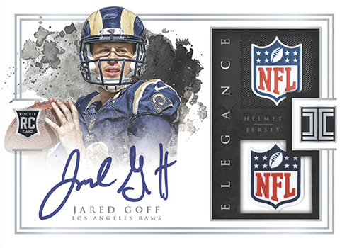2016 Panini Impeccable Football Elegance Rookie Helmet Patch Autographs