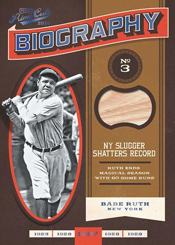 2016 Panini Prime Cuts Baseball Biography Blue