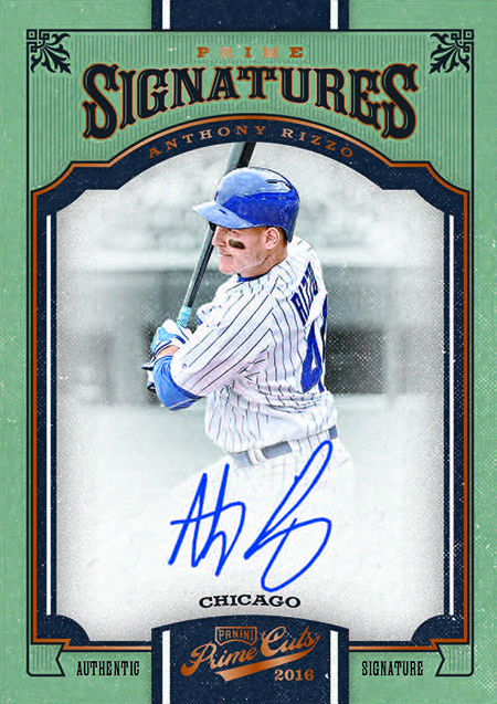 2016 Panini Prime Cuts Baseball Prime Signatures Bronze