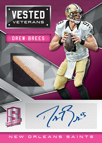 2016 Panini Spectra Football Vested Veterans Pink
