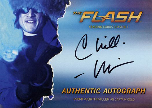 2016 The Flash Season 1 Autographs Wentworth Miller Captain Cold