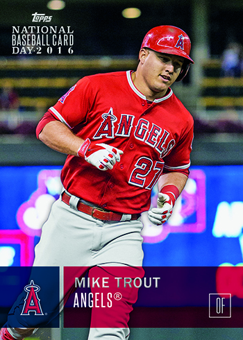 2016 Topps National Baseball Card Day Mike Trout