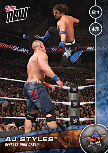 2016 Topps Now WWE 5 AJ Styles
