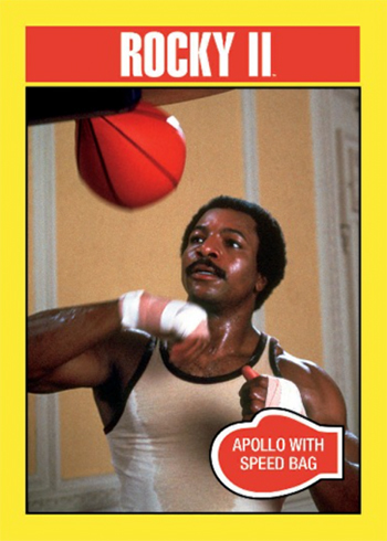 2016 Topps Rocky 40th Anniversary Base Rocky II Apollo with the Speed Bag