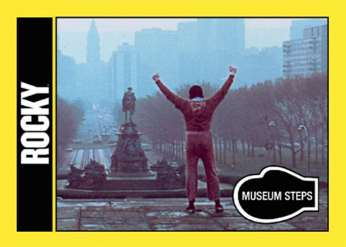 2016 Topps Rocky 40th Anniversary Base Rocky Museum Steps