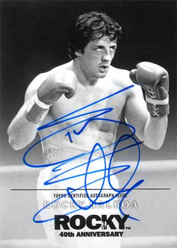 2016 Topps Rocky 40th Anniversary Sylvester Stallone Autograph Gloves