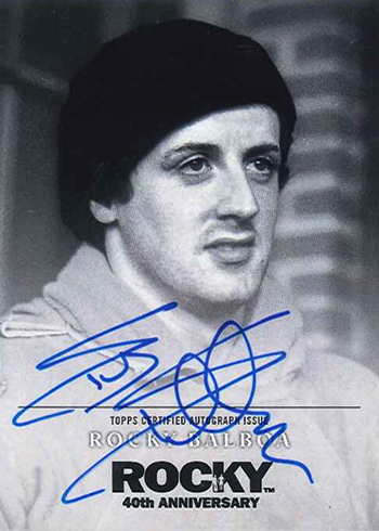 2016 Topps Rocky 40th Anniversary Sylvester Stallone Autograph