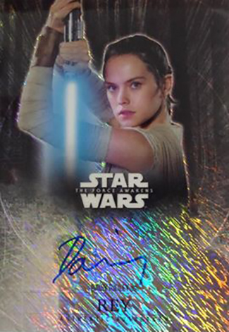 2016 Topps Star Wars The Force Awakens Chrome Autographs Daisy Ridley