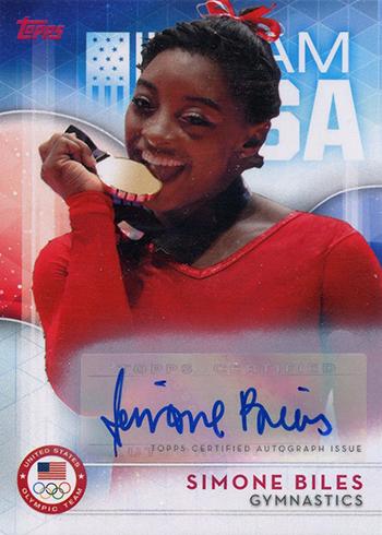 2016 Topps US Olympic Team Autographs Simone Biles