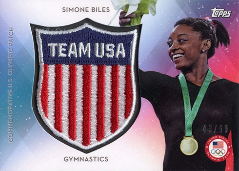 2016 Topps US Olympic Team Crest Patch Simone Biles