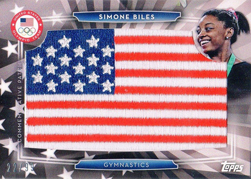 2016 Topps US Olympic Team Flag Patch Simone Biles
