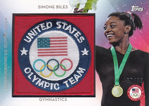 2016 Topps US Olympic Team Team Patch Simone Biles