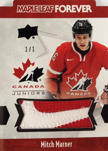 2016 Upper Deck Team Canada Juniors Maple Leaf Forever Black Patch