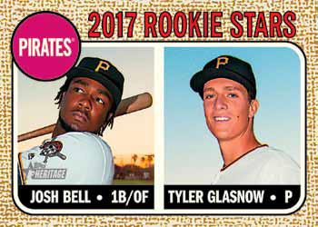 2017 Topps Heritage Baseball Base Rookie Stars