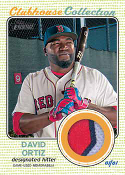 2017 Topps Heritage Baseball Clubhouse Collection Patch