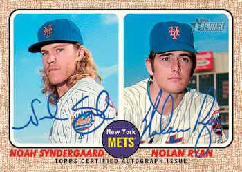 2017 Topps Heritage Baseball Dual Autograph