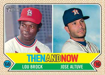 2017 Topps Heritage Baseball Then and Now