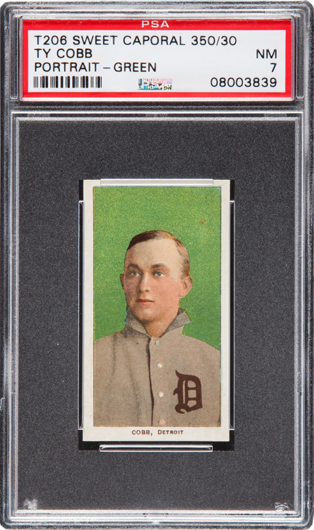 T206 Ty Cobb Green Background PSA 7 450