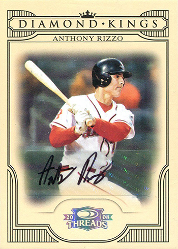 2008 Donruss Threads Diamond Kings Autographs Anthony Rizzo