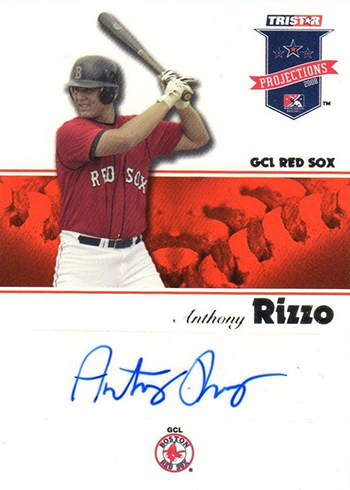 2008 Tristar PROjections Anthony Rizzo Autograph