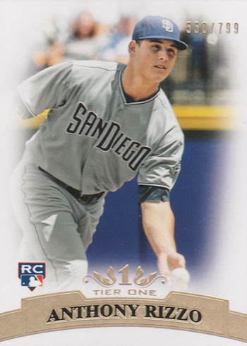 2011 Topps Tier One Anthony Rizzo RC
