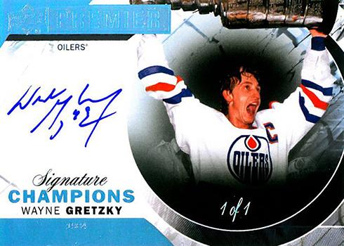 2015-16 Upper Deck Premier Hockey Signature Champions Wayne Gretzky