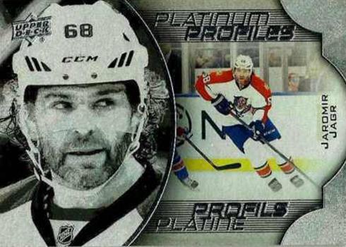 2016-17 Upper Deck Tim Hortons Hockey Platinum Portraits Jaromir Jagr