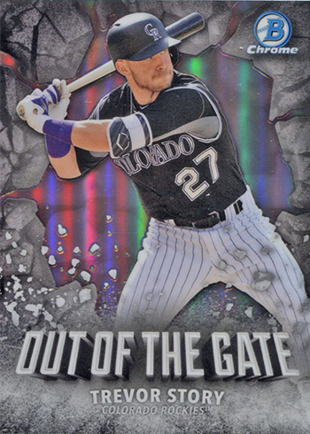 2016 Bowman Chrome Out of the Gate Trevor Story