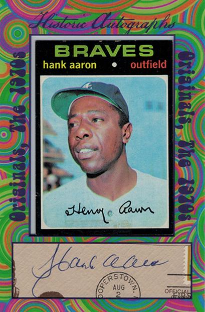 2016 Historic Autographs Originals 1970s Hank Aaron