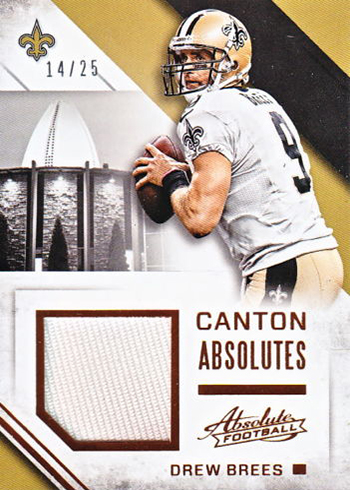 2016 Panini Absolute Football Canton Absolutes