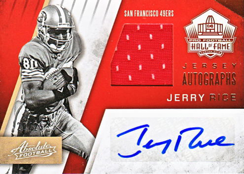 2016 Panini Absolute Football HOF Jersey Autographs Jerry Rice