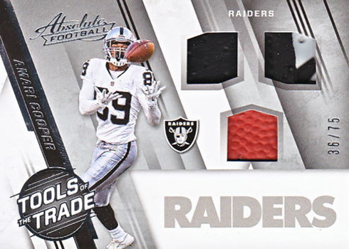 2016 Panini Absolute Football Tools of the Trade Triple