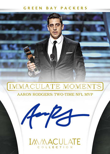 2016 Panini Immaculate Football Immaculate Moments Signatures