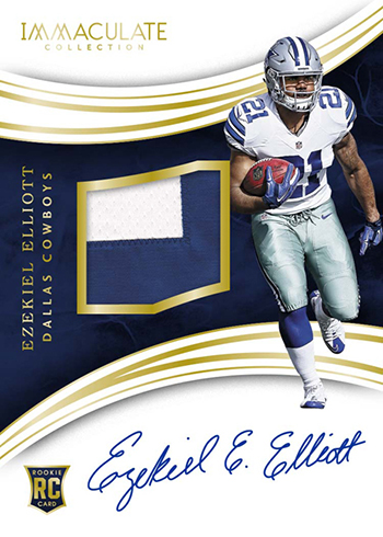 2016 Panini Immaculate Football Rookie Patch Autographs