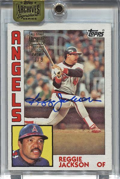 2016 Topps Archives Signature Series Baseball Reggie Jackson 1984 Topps