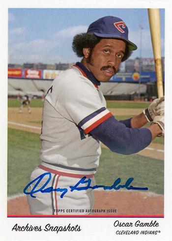 2016 Topps Archives Snapshots Oscar Gamble Autograph